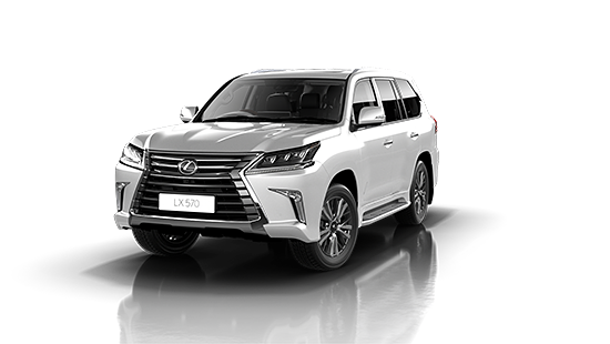 Lexus LX-570 in Pearl White