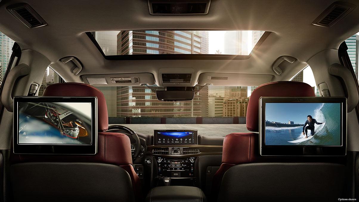Interior shot of the 2017 Lexus LX Entertainment System.