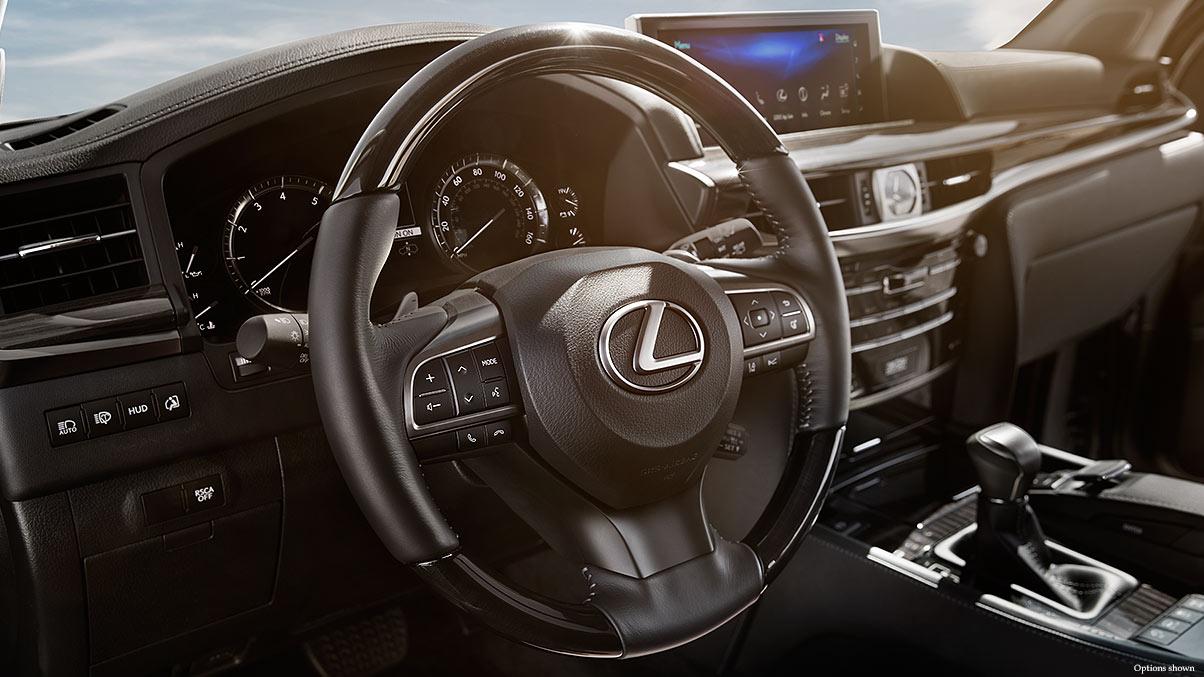 Interior shot of the 2017 Lexus LX.