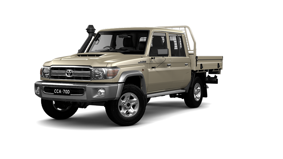 Toyota LandCruiser 70 Double Cab Chassis GXL in Graphite