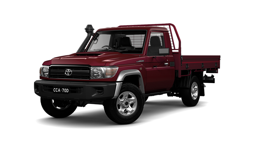 Toyota LandCruiser 70 Single Cab Chassis GX in Merlot Red