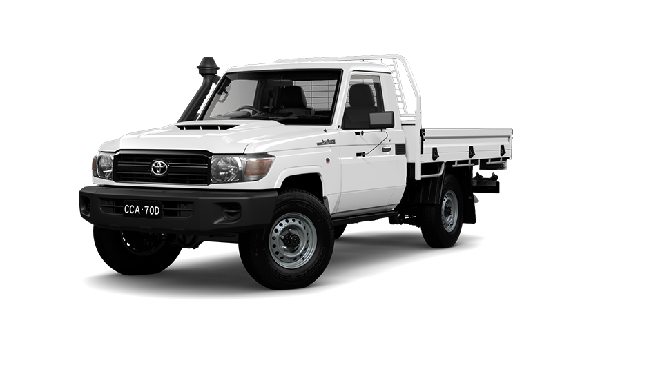 Toyota LandCruiser 70 Single Cab Chassis WorkMate in French Vanilla