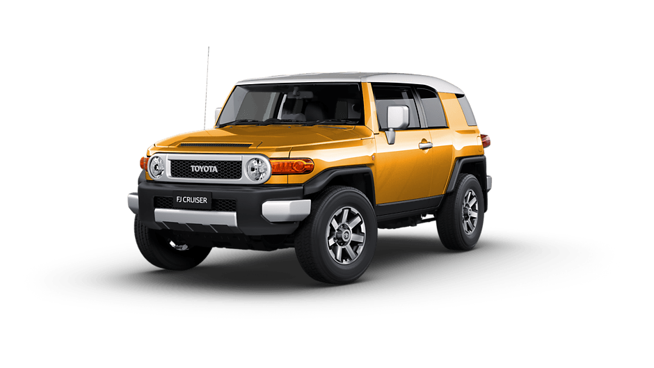 Toyota FJ Cruiser Australia RHD in Hornet Yellow